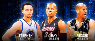 stephen-curry-ray-allen-reggie-miller